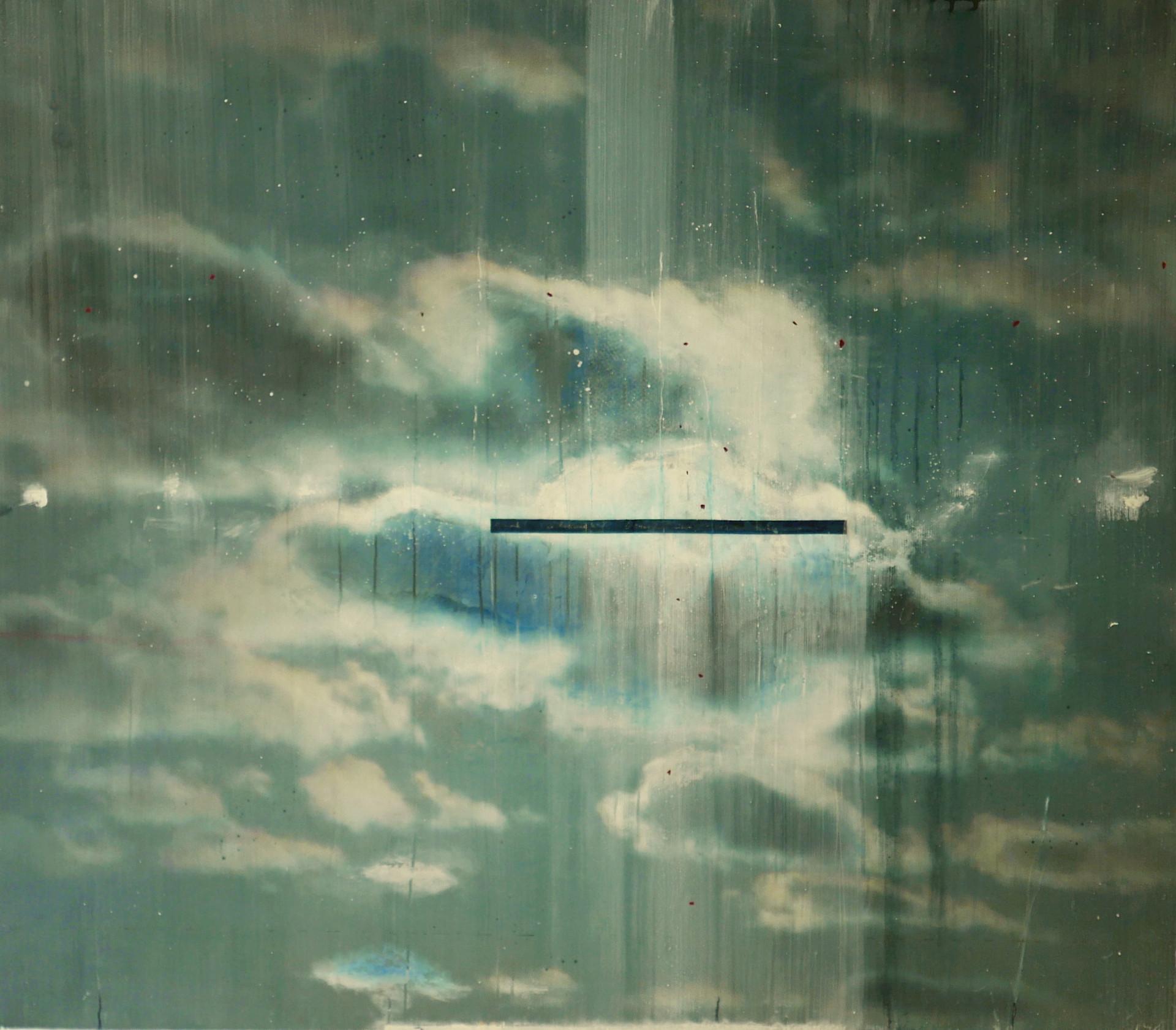 Anatomy of the Sky (1), mixed media on vinyl, 160x140cms, 2017-19