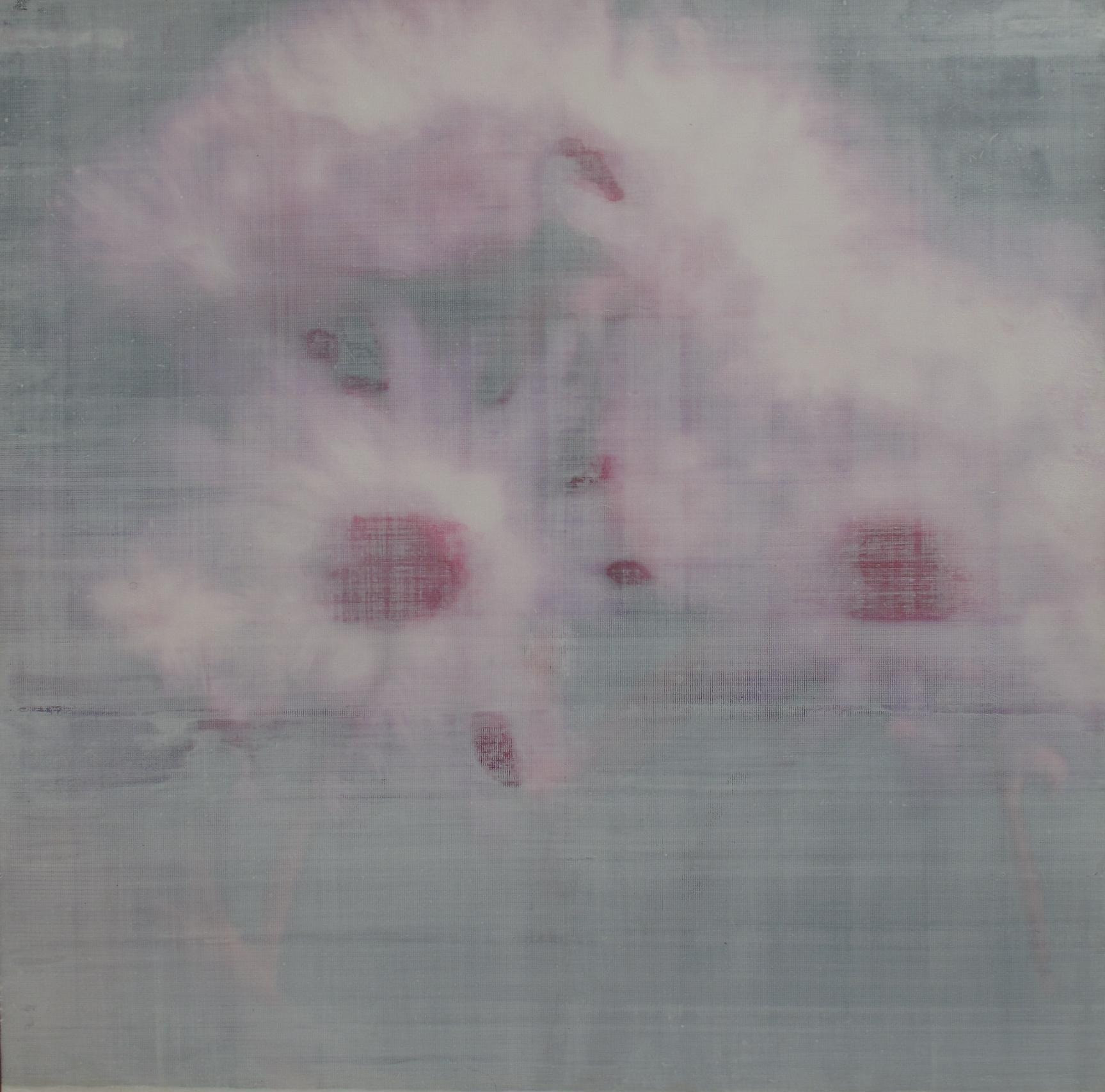 The Memory of Plants, ( for Lou), mixed media on vinyl, 150x150cms, 2011