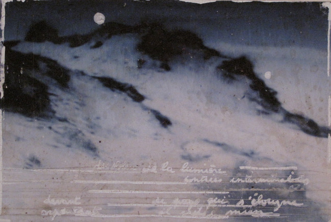 The North Sea (Tribute to Henri Storck I), mixed media on paper, 10x15cms, 2012