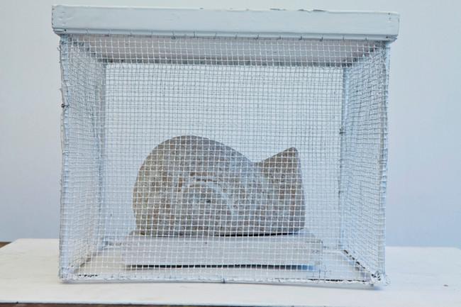 La Maison de l'Autre (V), 60x60x55cms, metal+wood, 2012