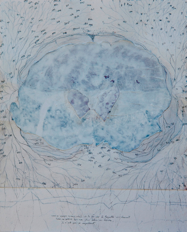 I have only what I remember (III), mixed media on paper, 50x30cms, 2012
