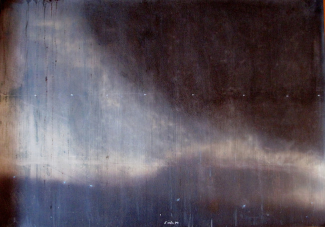 L'arriere-pays (IV) mixed media on paper. 120x80cms, 2014