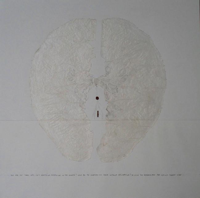 Etat de Siege (3), mixed media on paper, 45x45cms, 2013