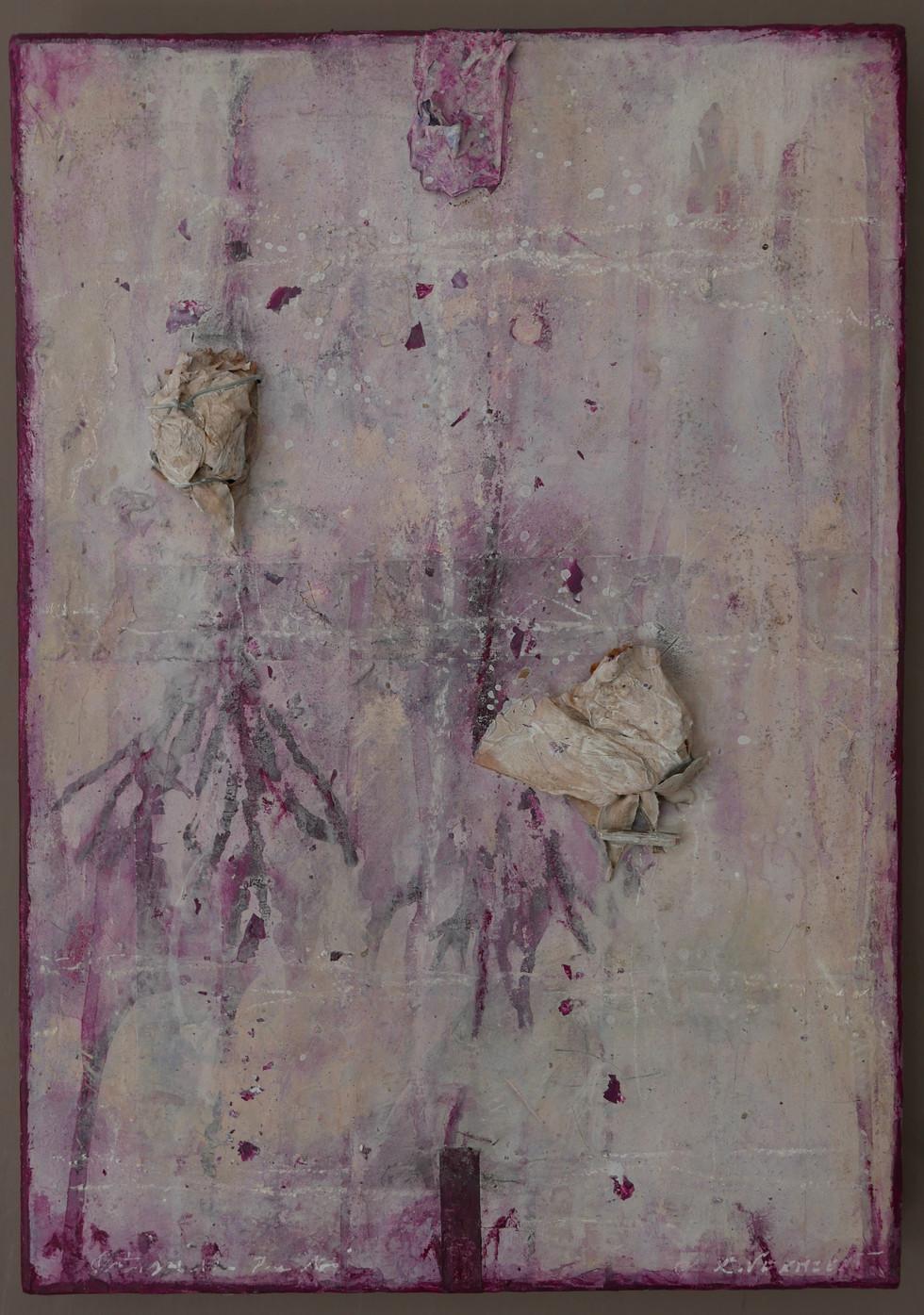 Ortigia(I),mixed media on canvas, 29x42cms, 2017