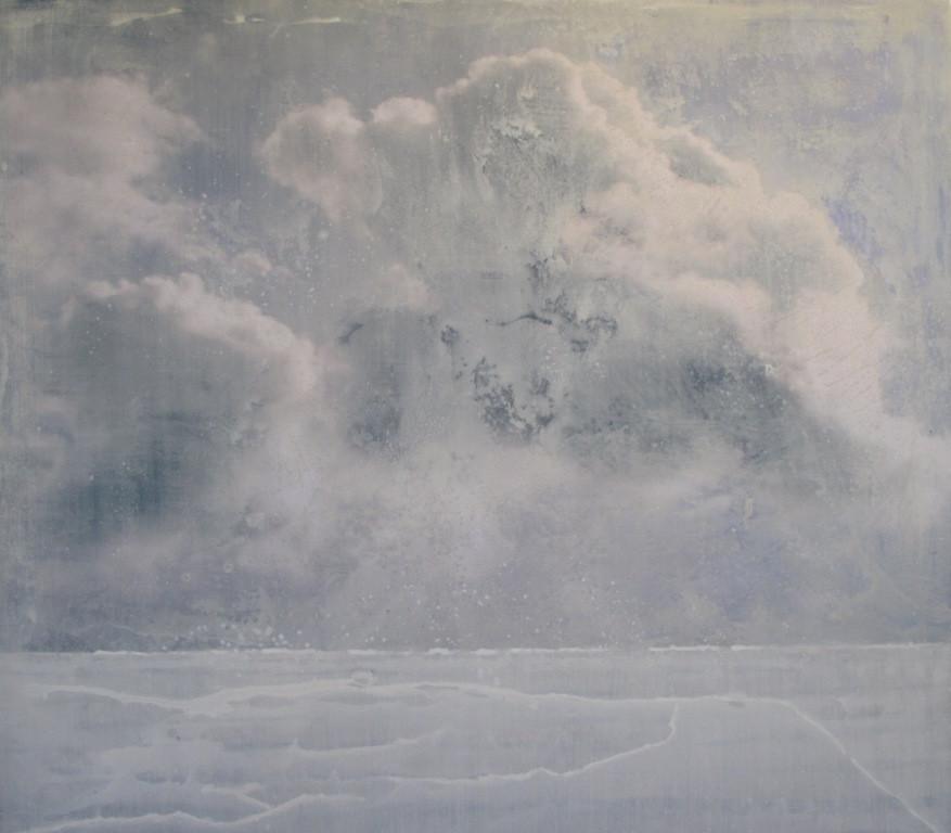 Deposit of Silence (2), mixed media on vinyl, 140x110cms, 2014