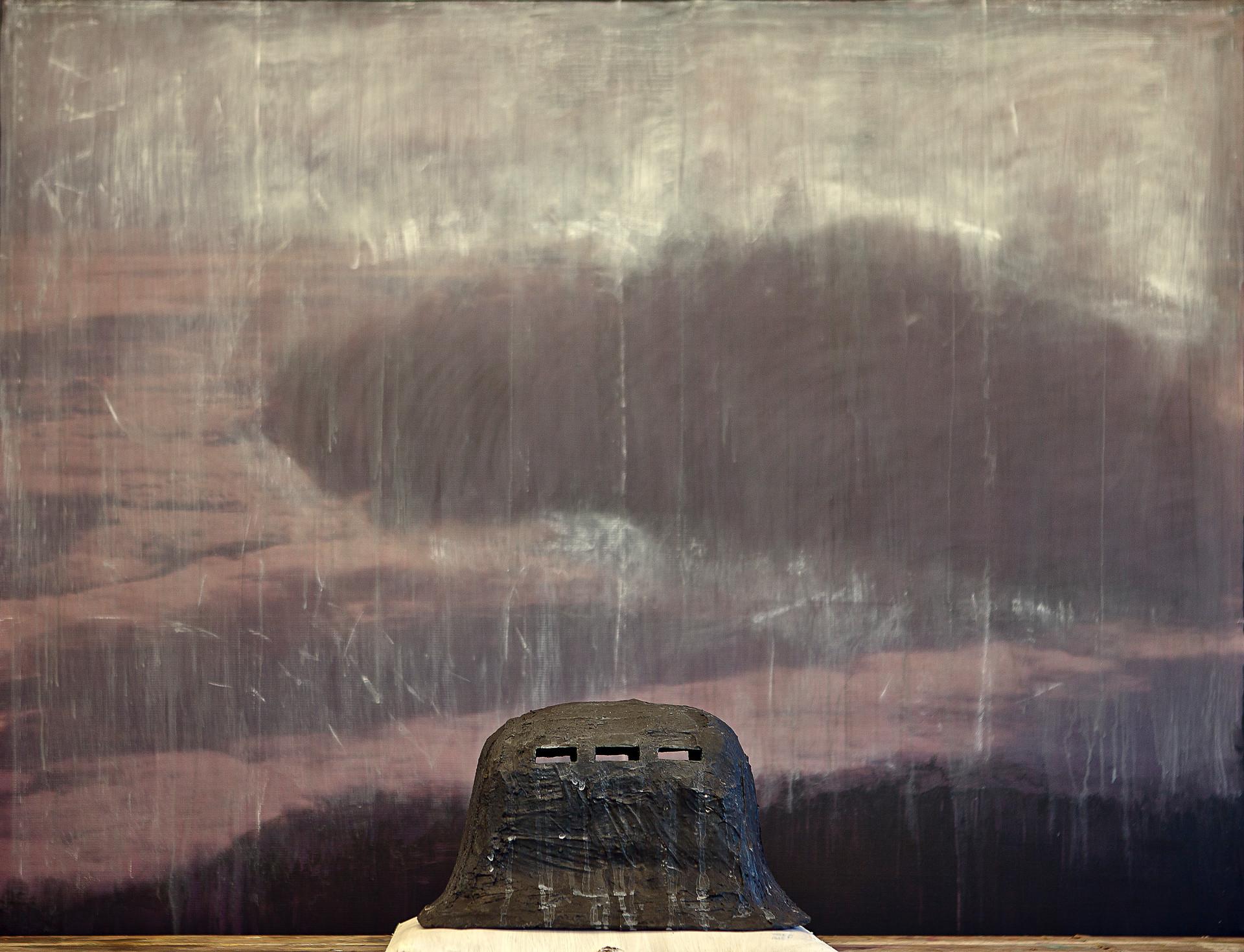 Deposit of Silence (3), mixed media on vinyl, 140x140cms, 2012