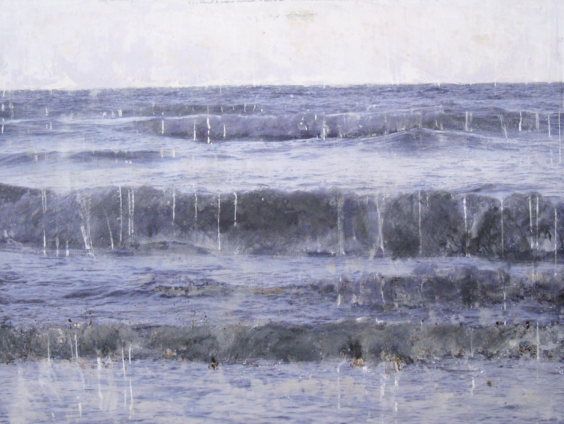 Les larmes de la mer, mixed media on vinyl, 170x120cms, 2011
