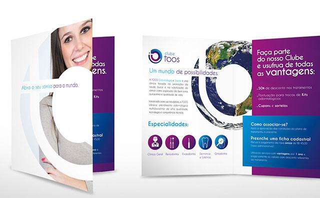 Folder comercial para clínica ondontológica