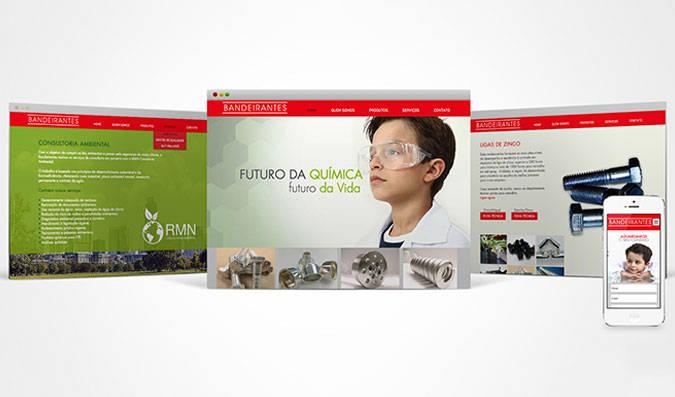 Criação de site para empresa química