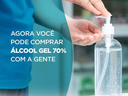 Compre aqui Álcool Gel 70%