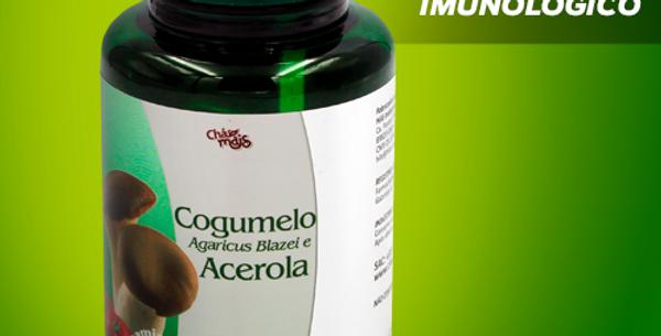 Cogumelo Agaricus e Acerola - 100 cápsulas