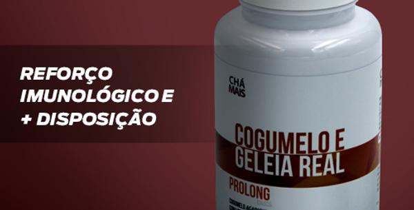 Cogumelo Agaricus e Geléia Real + Vitaminas - 100 cápsulas