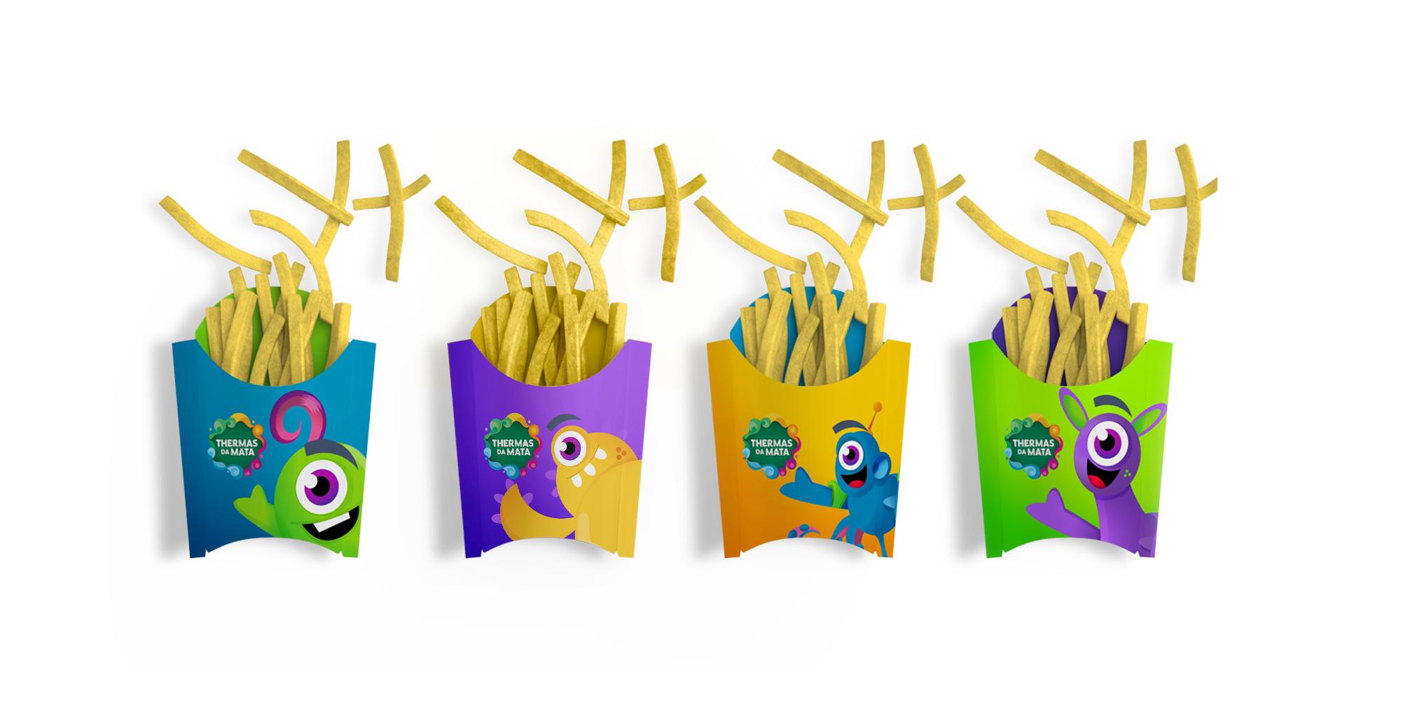Design de embalagem de comida Fast Food   Thermas da Mata