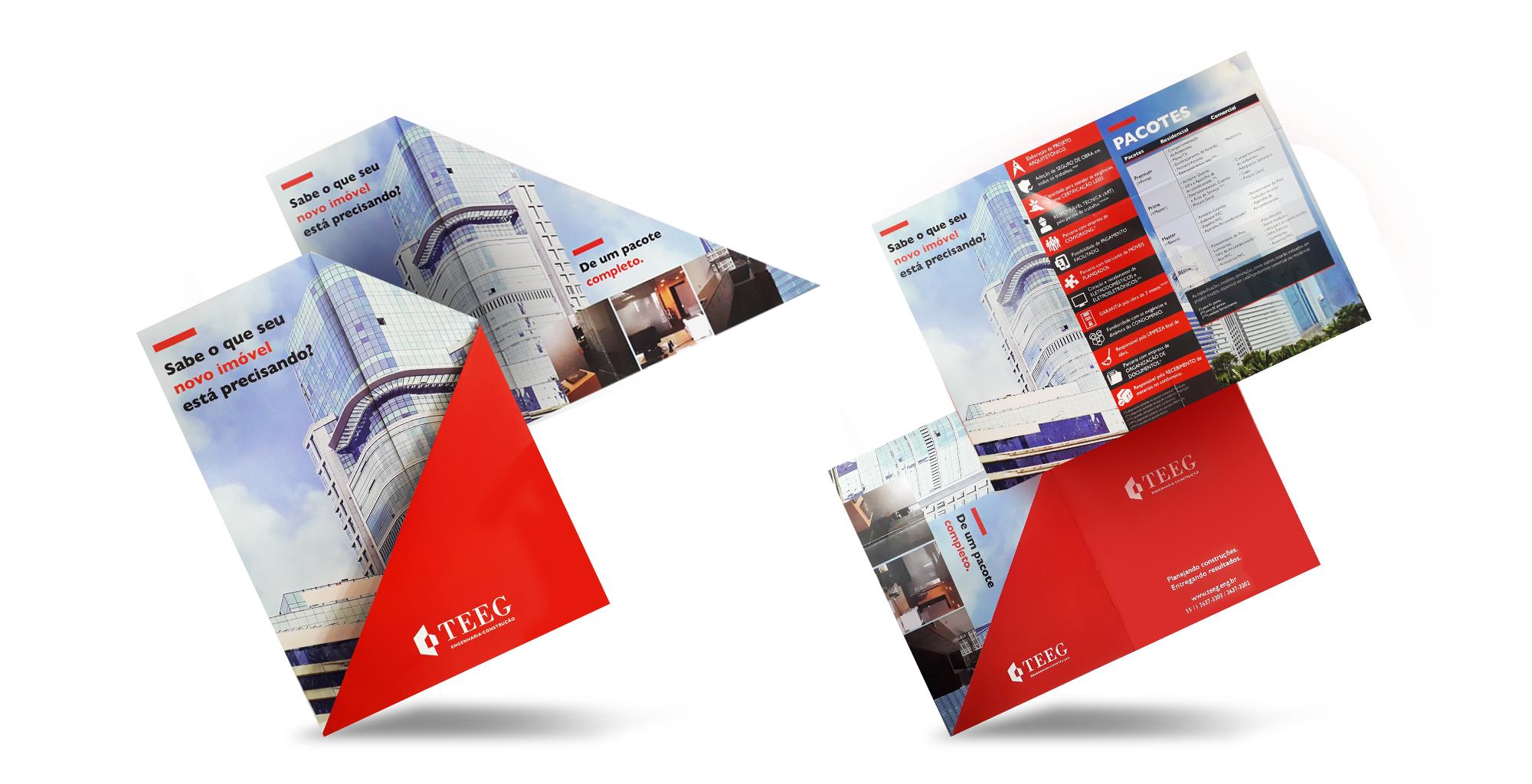 Flyer institucional para construtora   TEEG