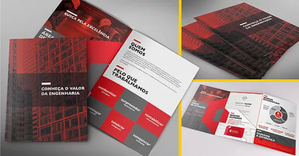 Folder institucional para construtora TEEG