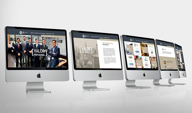 Criação der site para empresa de investimento