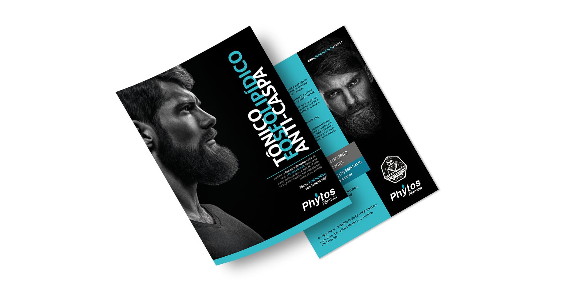 Folder promocional de produto cosmético   Phytos Fórmula