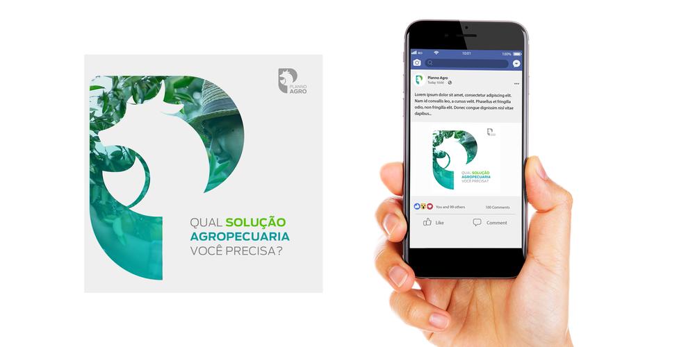 Identidade visual de logotipopara empresa de agro negócio