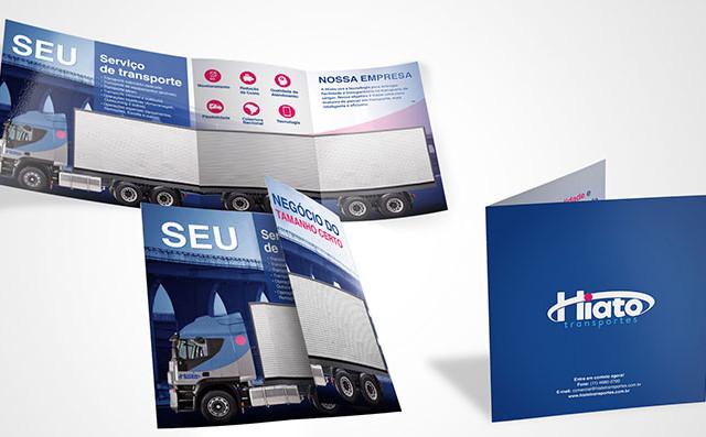 Folder para empresa de transportes