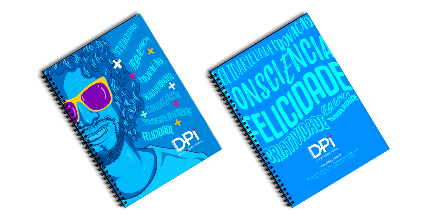 Criação de cadernos personalizados para gráfica