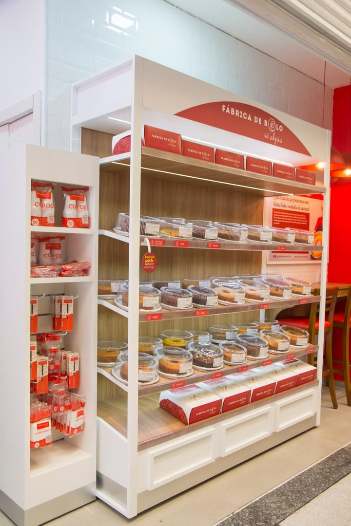 Display de venda de bolos caseira no sistema de Franquias