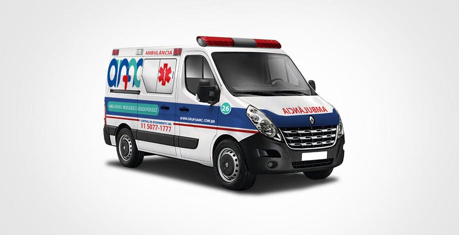 Envelopamento de ambulância   AMC Ambulância