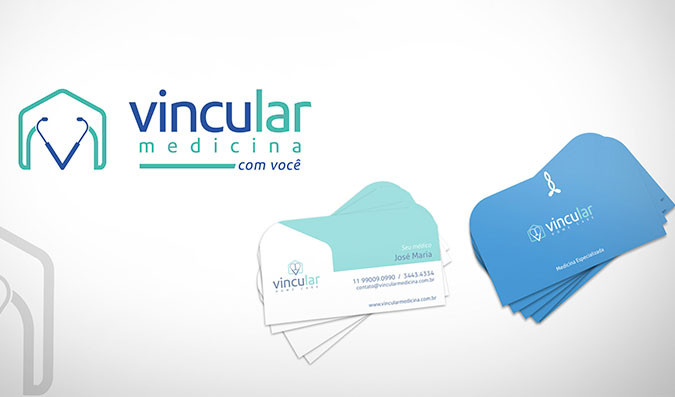 Logotipo para empresa de homecare   Vincular Medicina