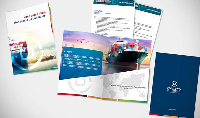 Criação de pasta folder para empresa de exportação e importação