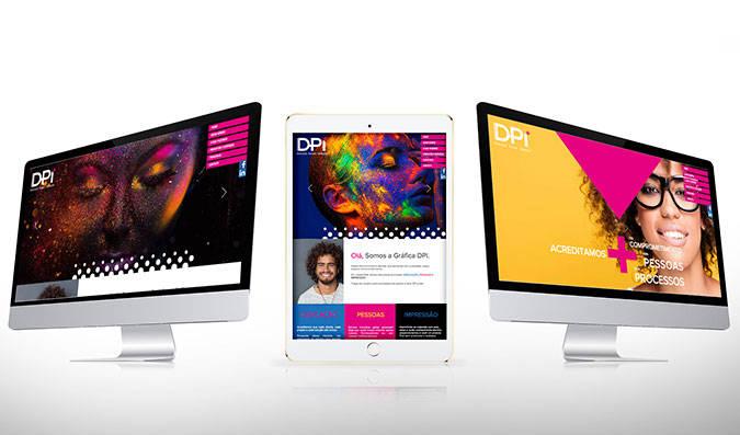 Criação de site para gráfica DPI