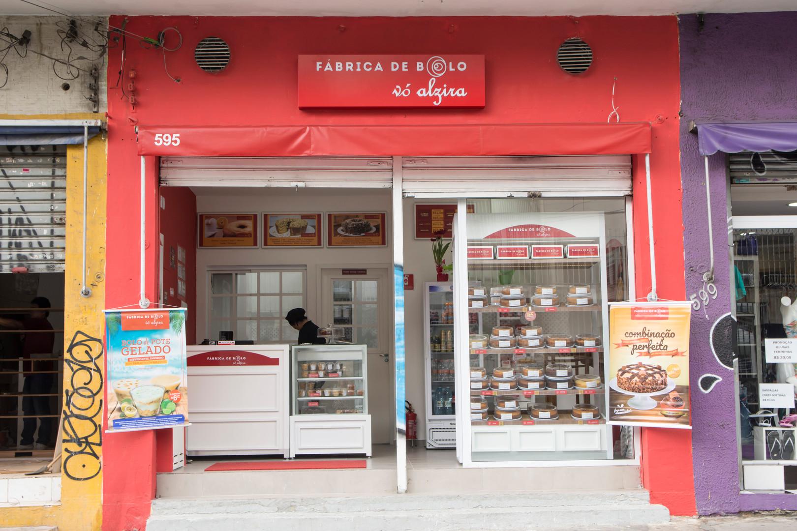 Fachada de loja de Bolos caseiros em São Paulo! Um bom negócio em Franquias!