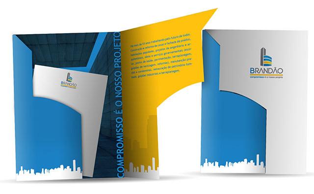 Folder para construtora no Distrito Federal