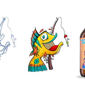 Mascote para rótulo de cerveja artesanal