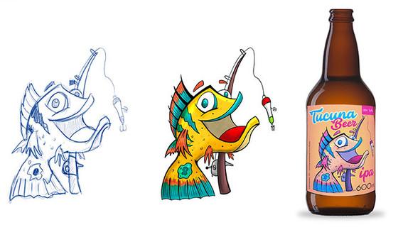Criação de rótulo para cerveja artesanal | Tucunaré Beer
