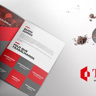 Folder institucional para construção civil