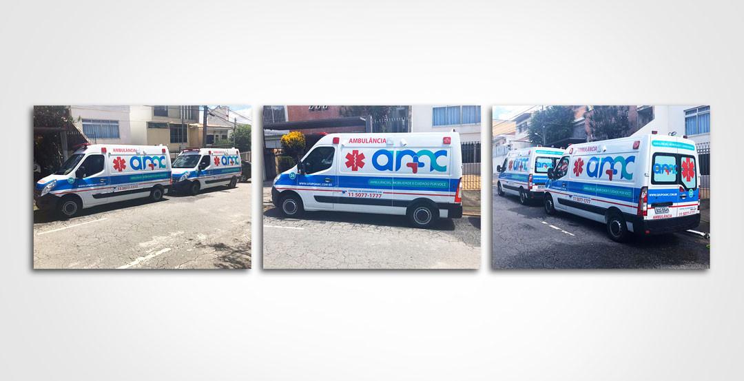 Criação de nova identidade visual para ambulâncias