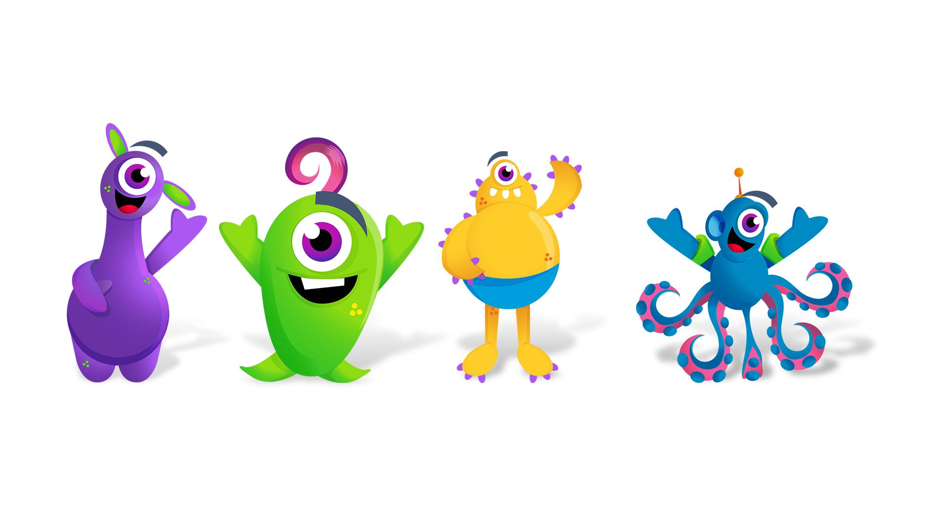 Criação de personagens para parque Aquático | Thermas da Mata