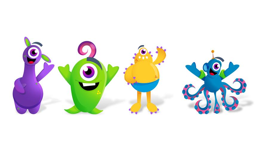 Criação de personagens para parque Aquático   Thermas da Mata