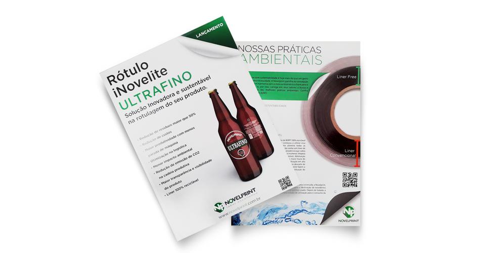Criação de lâminas de produtos para empresa de embalagens
