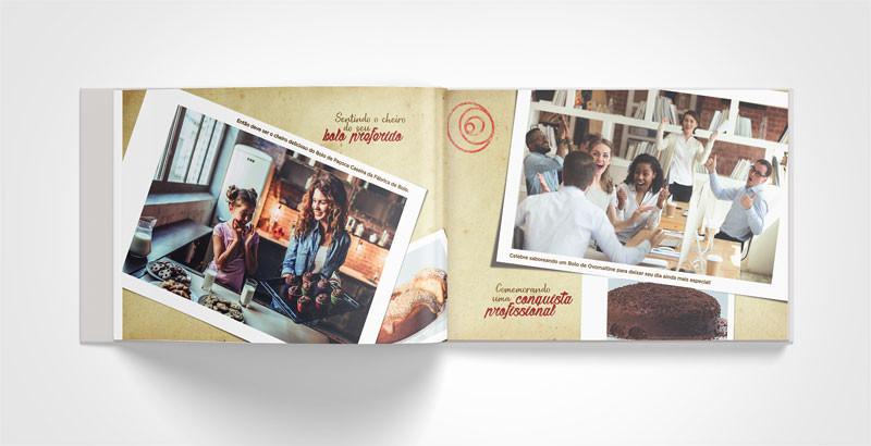 Criação de book para imprensa focado em bons momentos para rede de franquias