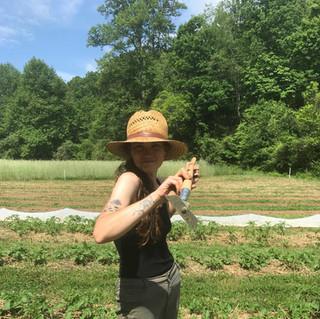 Kathryn showing her mad shovel skills