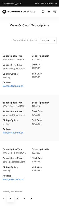WAVE Subscription View