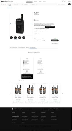 Radio Product Page