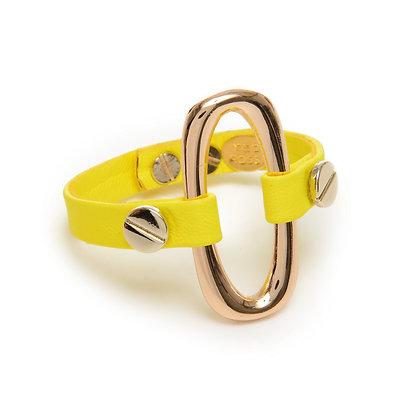neon gold oval cuff