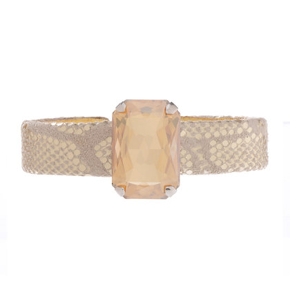 leather bling cuff