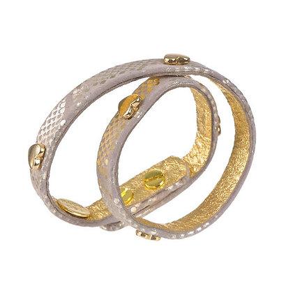 leather & hearts double wrap bracelet