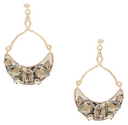 python + bling earrings