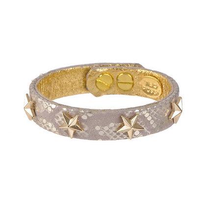 leather & stars bracelet (med)