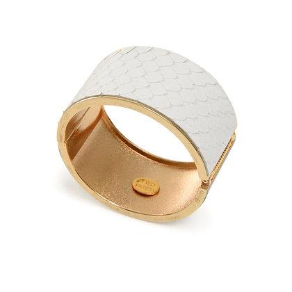 leather hinge bracelet (large)