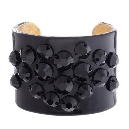 patent + circle bling cuff