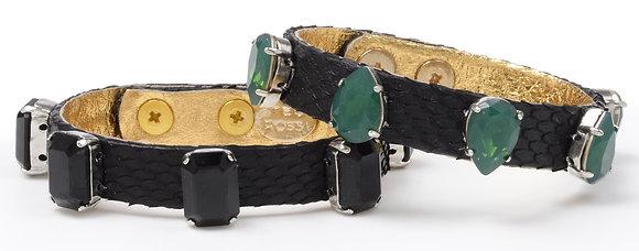 genuine python gem bracelet (med)